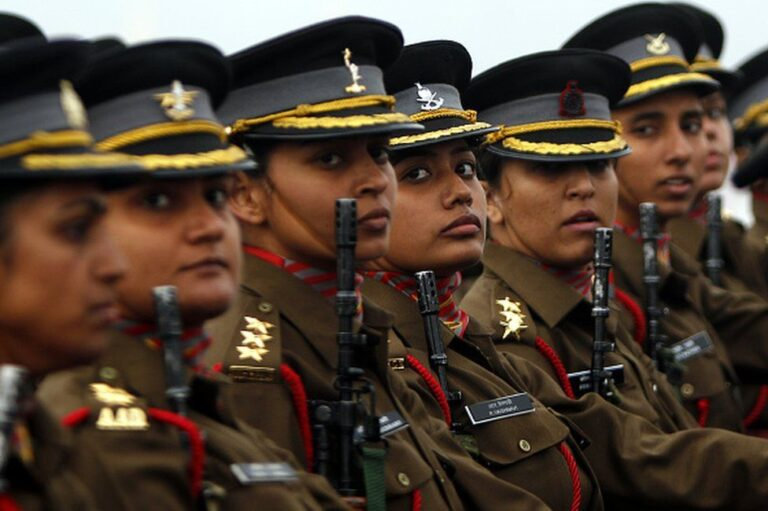 Indian Army recruits first batch of women in military police